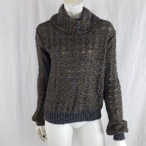 Rachel Roy Sweater Chunky Look Mohair Blend Gray